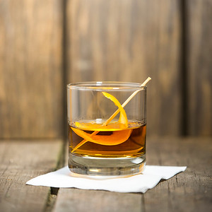 Makers Mark with Orange Peel