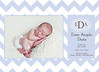 Davis Blue Chevron 5x7 card