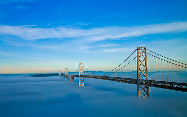 Foggy Bay Bridge, San Francisco