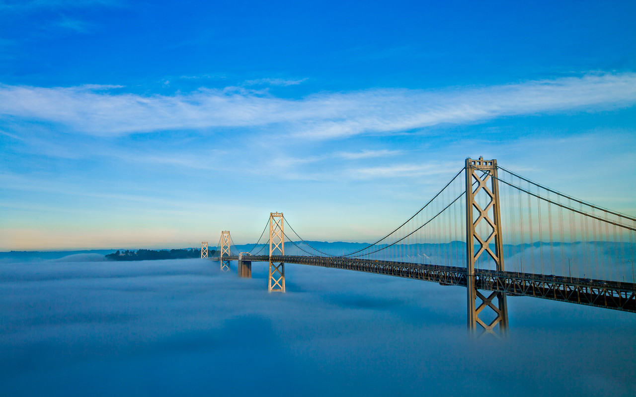 Foggy Bay Bridge, San Francisco