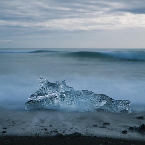 Emergence. Jökulsárlón Glacier Lagoon, South Iceland.
