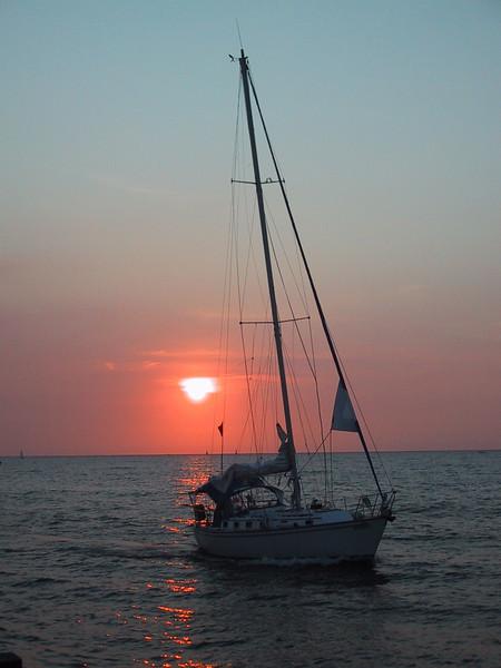 Sails Up Sun Down