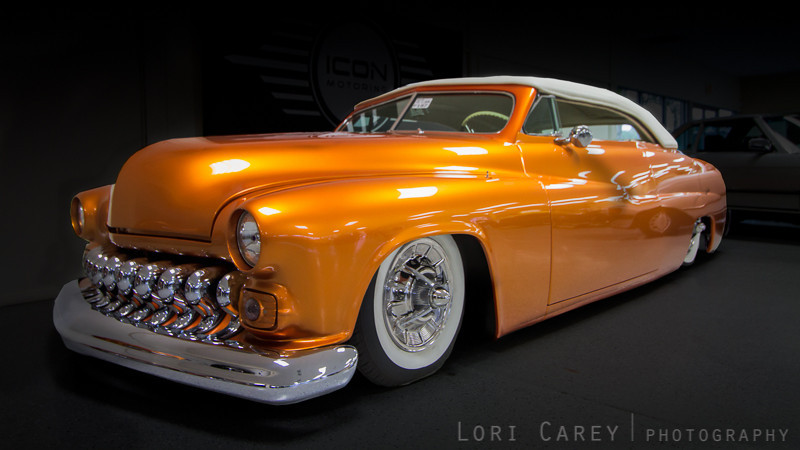 1951 Mercury Coupe Convertible built by Dick Dean. Icon Motoring showroom, Laguna Niguel, CA