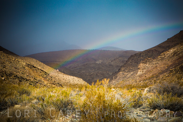 Rainbow in Johnson Canyon, Death Valley National Park