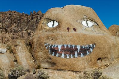 Brenda, aka Face Rock located along Whitney Portal Road in the Alabama Hills, California