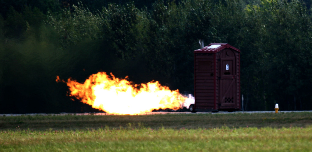 Jet powered outhouse