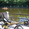 Some folks exploring the canal via kayak.