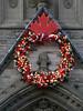 Christmas wreath on Peace Tower, Ottawa