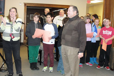 "Our Busy Youth: 2nd Grade Havdalah Program, Chanukah Sing-Along, and 5th Grade Shopping for an ""Adopted"" Family, Kids Night Out,  and Hebrew Lounge pix"