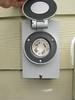 New exterior generator receptacle