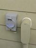 New exterior generator receptacle next to main power conduit