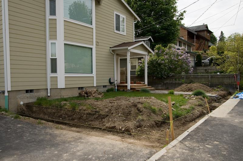 Base excavated and leveled