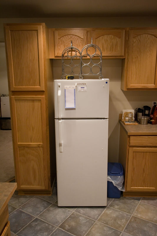 """Loaner"" - the smallest refrigerator in the world"