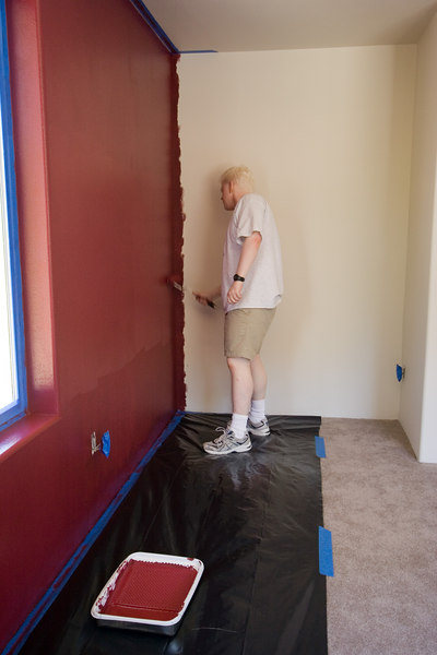 Ben finishing the second coat on the North wall