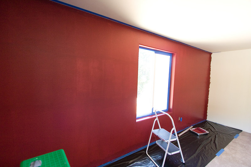 First coat on North wall done