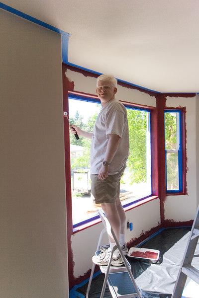 Ben rolling around the windows