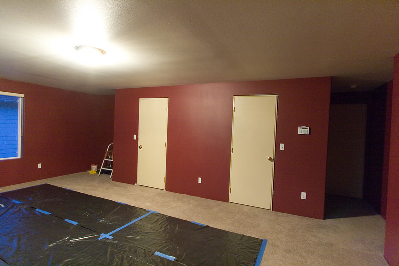 Doors painted and reinstalled