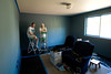 New paint and molding in the North Bedroom