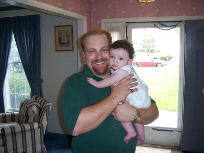 Riely Katz with proud papa Andy (At the baby naming - Aug 2004)