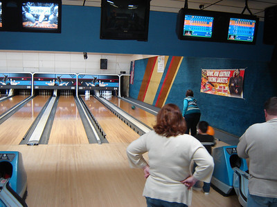 An afternoon of Bowling during their visit