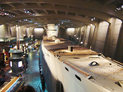 Museam of Science and Industry  The U-505 Exhibit. Very interesting to go thru a Captured German Submarine