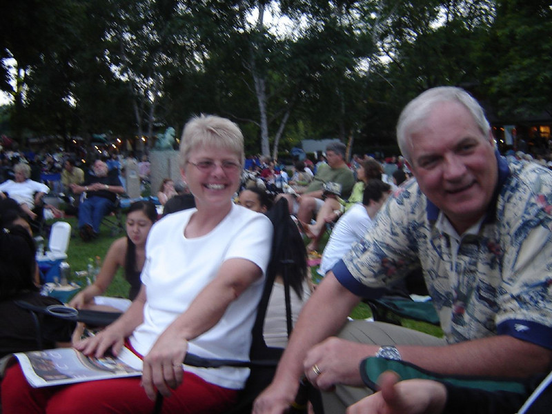 Chicago Visit, 2006 <br /> Kay and Jeff at Ravinia Park