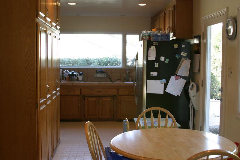 north view of original Kitchen.