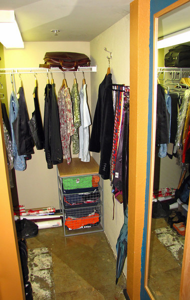Downstairs closet.