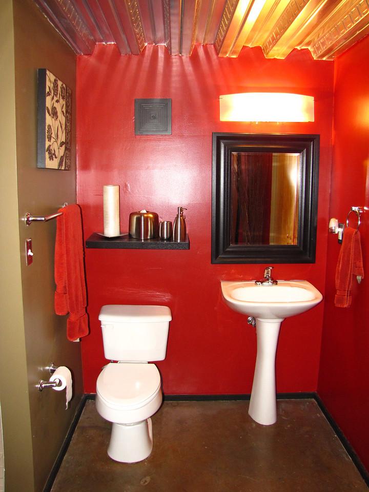 Downstairs bathroom.