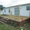 All the joists are in place along with the guard rail uprights.