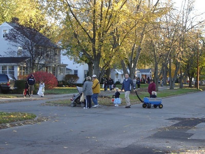 Trick-n-Treaters  The neighborhood was filled with kids and parents Sunday afternoon