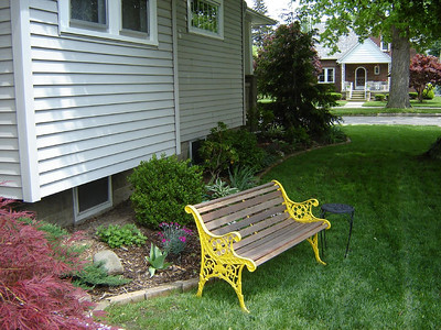 Our Yard  Our Morning Coffee bench