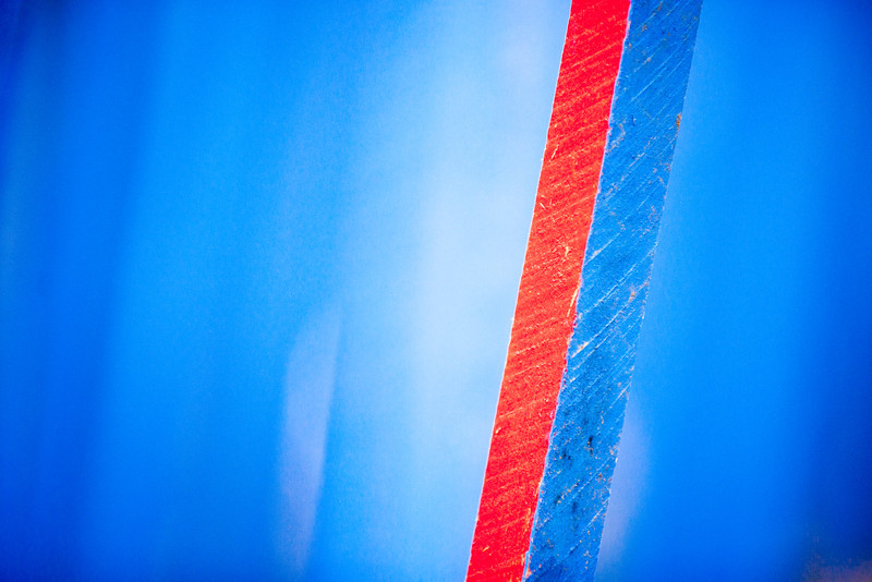 red on blue