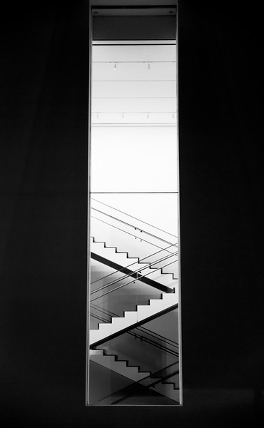 a staircase inside the museum of modern art, nyc