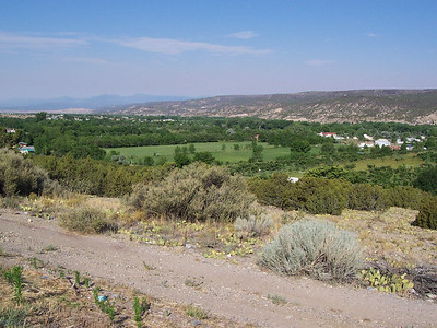 The Velarde Valley from Hwy 68 (looking SW). Our house is not visible.