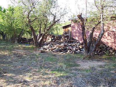 We've got enough firewood for those wood stoves and the fireplace to get through two winters!