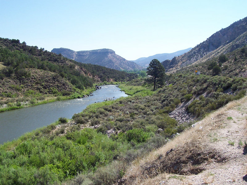 The Rio Grande between Velarde & Taos.