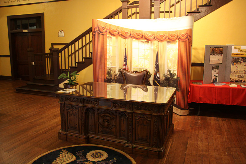 Re-creation of President Carter's Resolute Desk at Plaines, GA