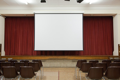 The Wesley Hall with screen