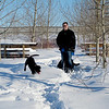 Out and about after a cold snap, Sherwood Park, AB, Kim, Bill, Bella & Java