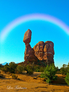 Balanced Rock and Rainbow