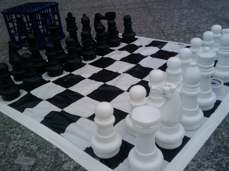 Giant Chess closeup