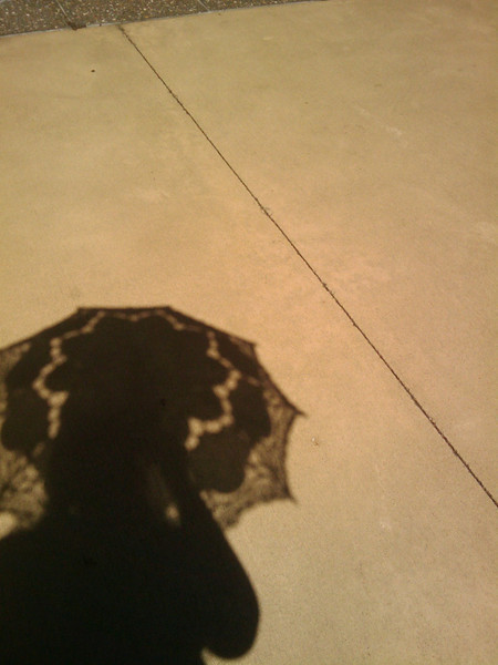 self portrait with parasol