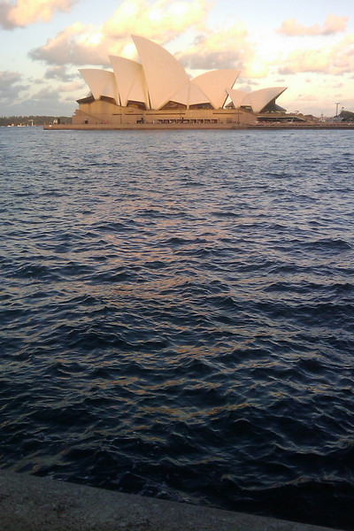 sydney opera house over the water