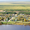 Panoramic aerial shot taken Oct 1 2005 from over the river.
