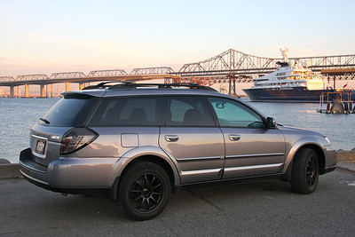 2009 Subaru Outback XT Turbo manual transmission, fully loaded with all options Mods: Matte black Rota Rims, black LED taillights, and cleared out front headlights