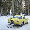 Volvos and snowshoes -  clever how I wove two of my favorite things together for a fun afternoon, eh?