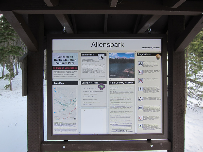 Allenspark trailhead and entrance to RMNP.