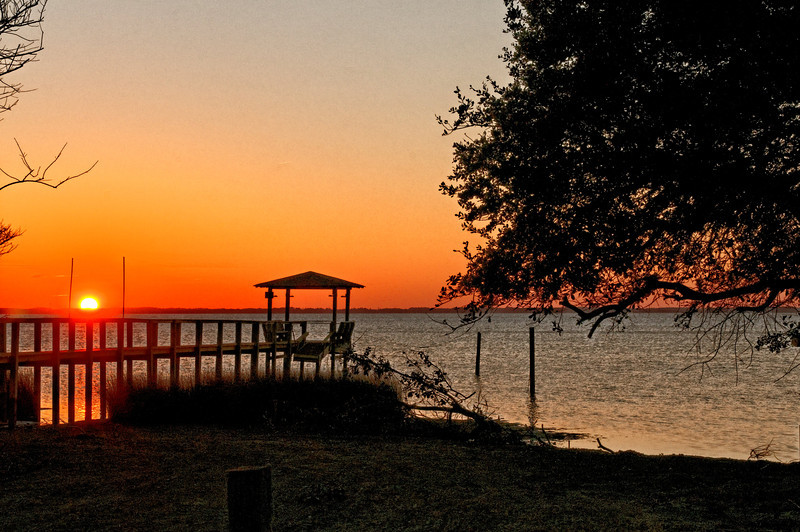 Sunset at Duck, NC over Currituck Sound