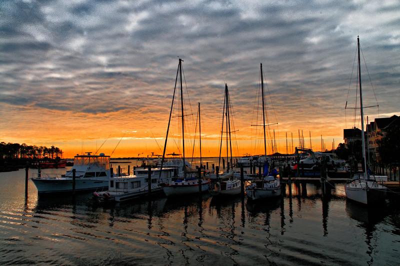 Early Morning at Manteo Harbor